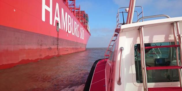Navio Container Na Entrada da Barra de Praia do Cassino - Rio Grande