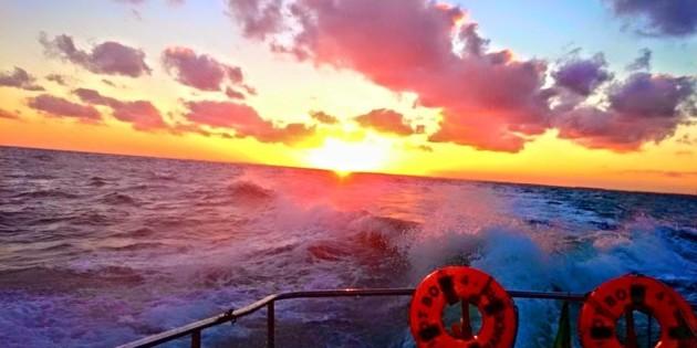 final de tarde no mar da praia do cassino