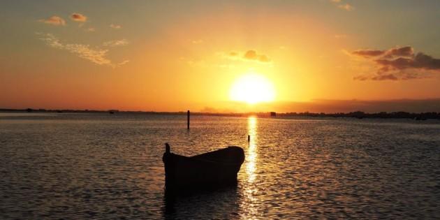 Por do Sol na Lagoa dos Patos - Rio Grande