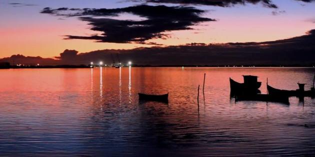 Amanhecer na lagoa dos patos as 06