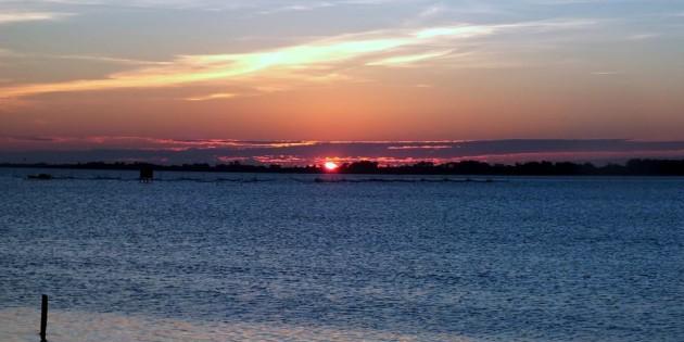 Entardecer na orla de Rio Grande, Uma linda noite pra todos