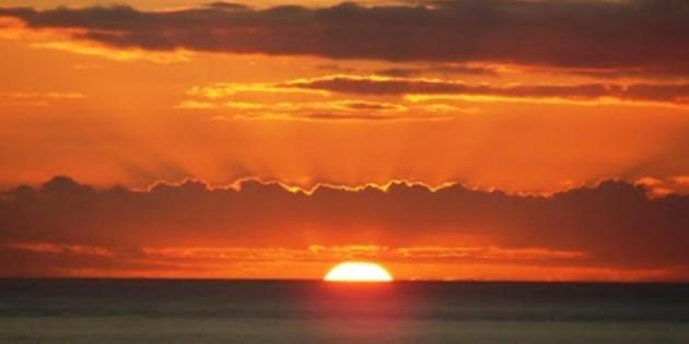 nascer do sol em Praia do Cassino