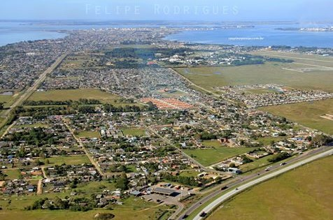 vista aérea da cidade de Rio Grande
