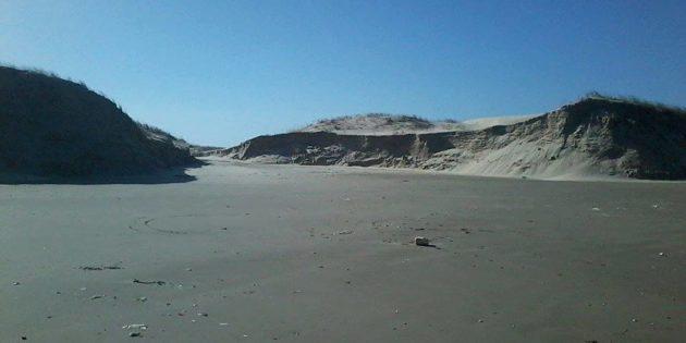 Dunas Gigantes na Praia do Cassino apos Ressaca