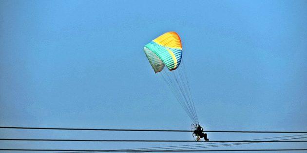 Paraglider na Praia do Cassino