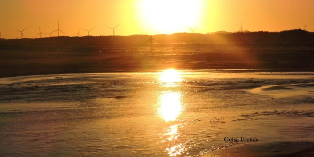 Por do Sol na Maior Praia do Mundo