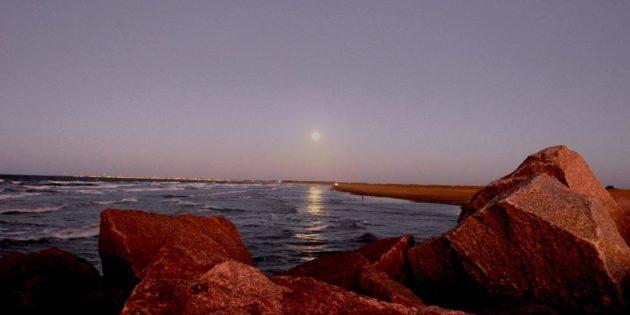 Praia do Cassino Vista dos Molhes