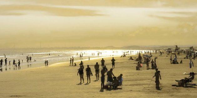 Belo dia na Praia do Cassino
