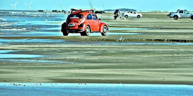Movimento na Praia até no Inverno