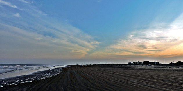 Praia do Cassino em 24 agosto 2017